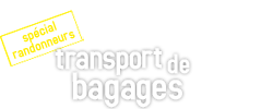 Transport de bagages spécial randonneurs - Taxi du Puy 43